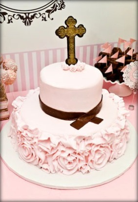 christening-party-pink-brown-vintage-cake-with-cross-topper
